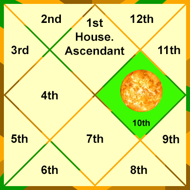 Sun in the 10th house